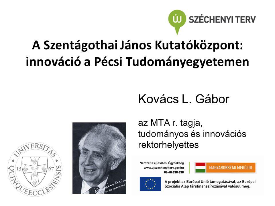 A Szentágothai János Kutatóközpont: innováció a Pécsi Tudományegyetemen Kovács L.