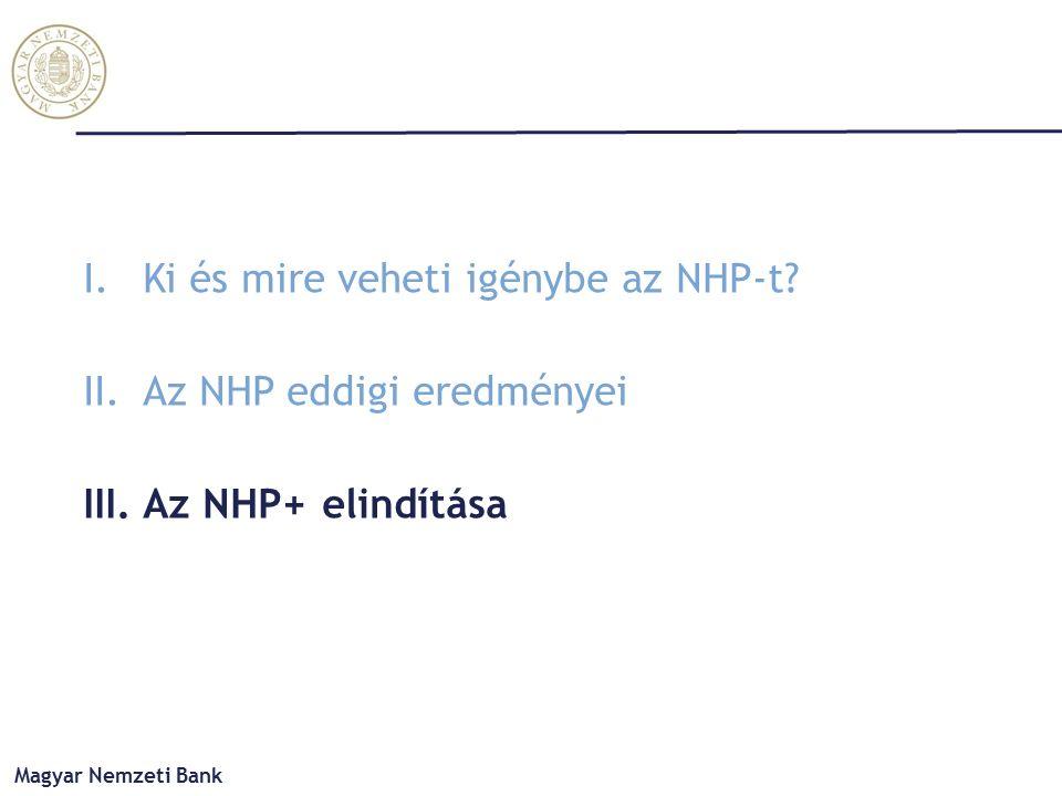 Magyar Nemzeti Bank I.Ki és mire veheti igénybe az NHP-t.