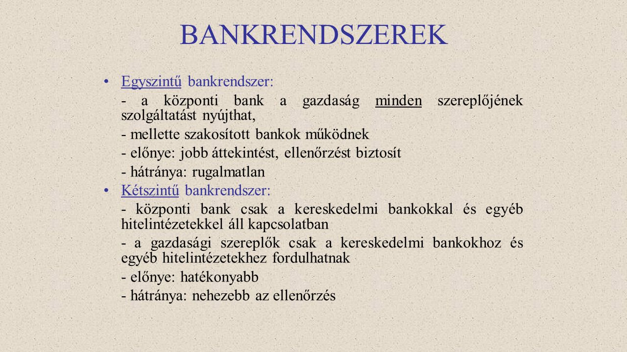 """Jegybank szerepe a pénzügyi stabilitásban """"Bankok bankja"""" Prudenciális szabályozás (A prudenciális szó jelentése okos, körültekintő. A pénzintézetekné"""