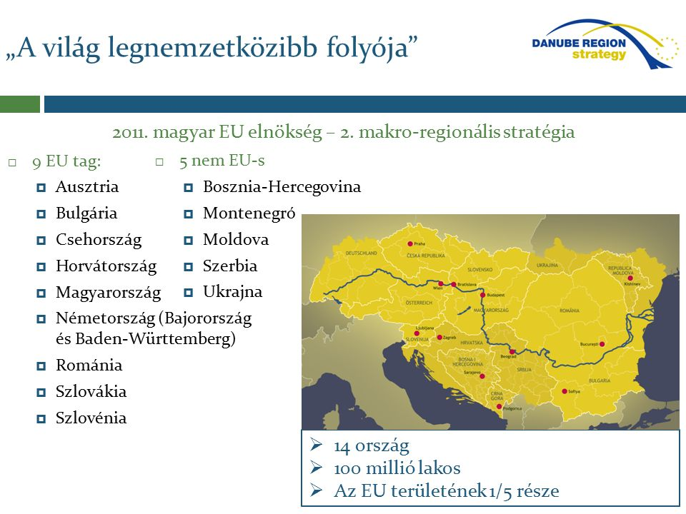  9 EU tag:  Ausztria  Bulgária  Csehország  Horvátország  Magyarország  Németország (Bajorország és Baden-Württemberg)  Románia  Szlovákia  Szlovénia 2011.