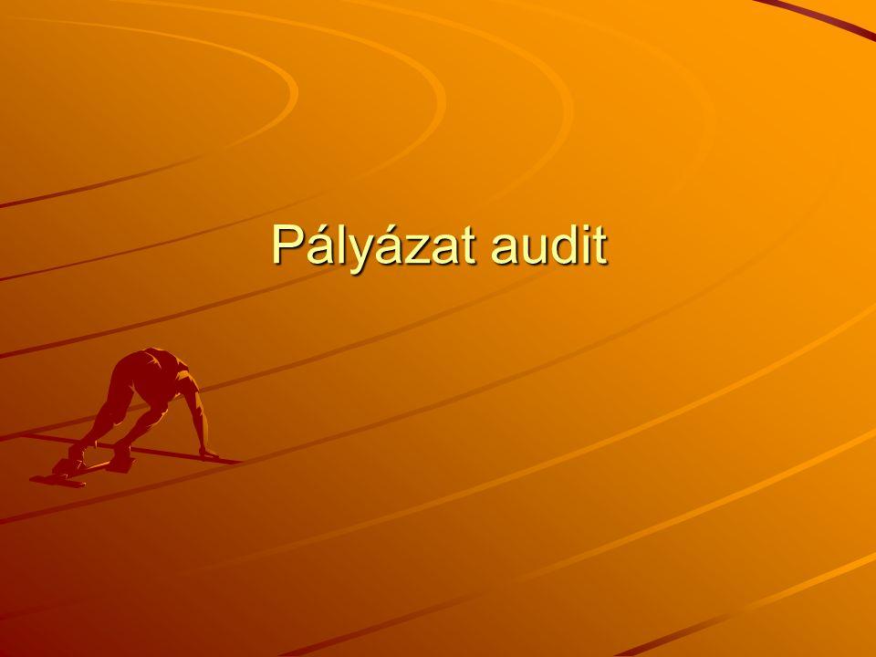 Pályázat audit