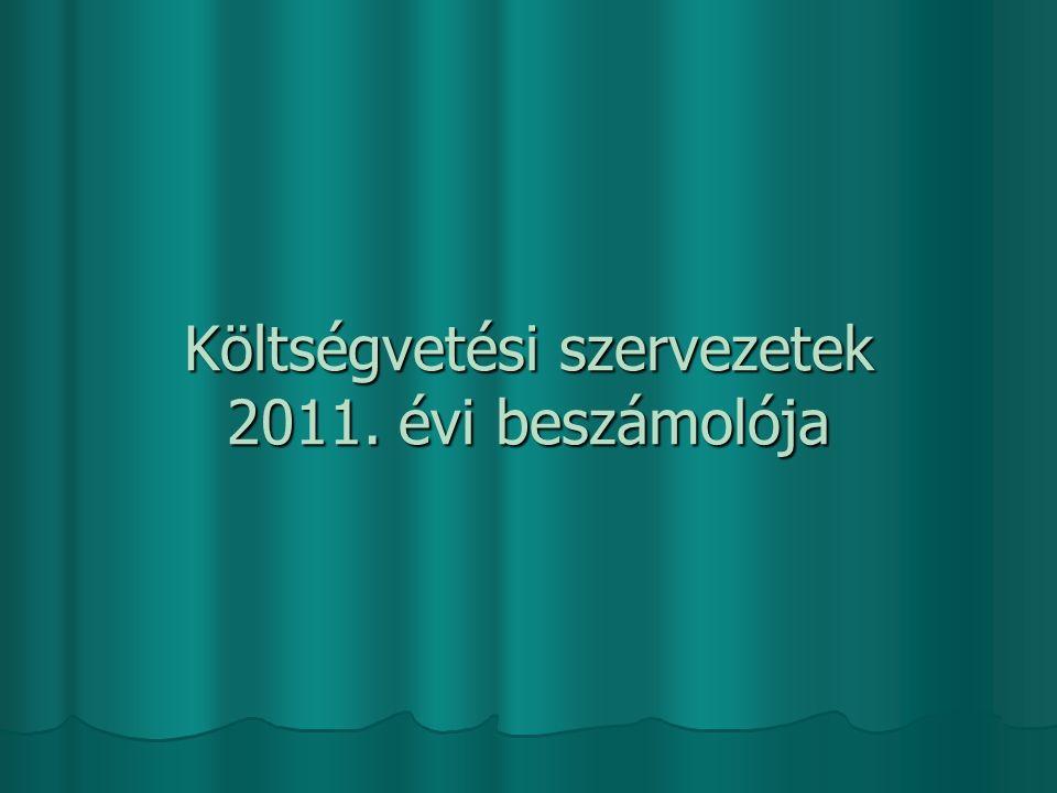 Költségvetési szervezetek 2011. évi beszámolója