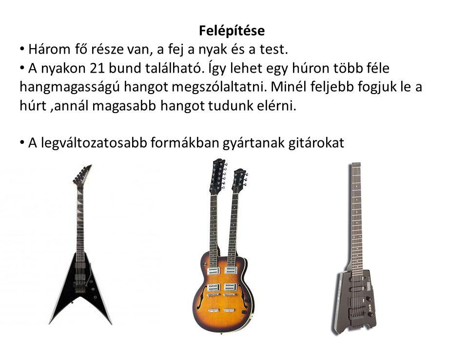 A két legismertebb gitármárka a Gibson és a fender