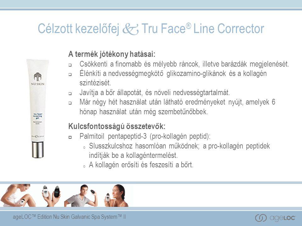 ageLOC™ Edition Nu Skin Galvanic Spa System™ II A termék jótékony hatásai:  Csökkenti a finomabb és mélyebb ráncok, illetve barázdák megjelenését.
