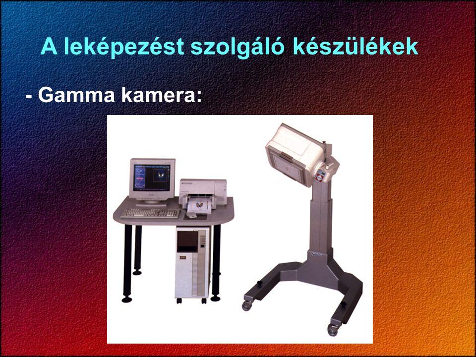 A leképezést szolgáló készülékek - Gamma kamera: