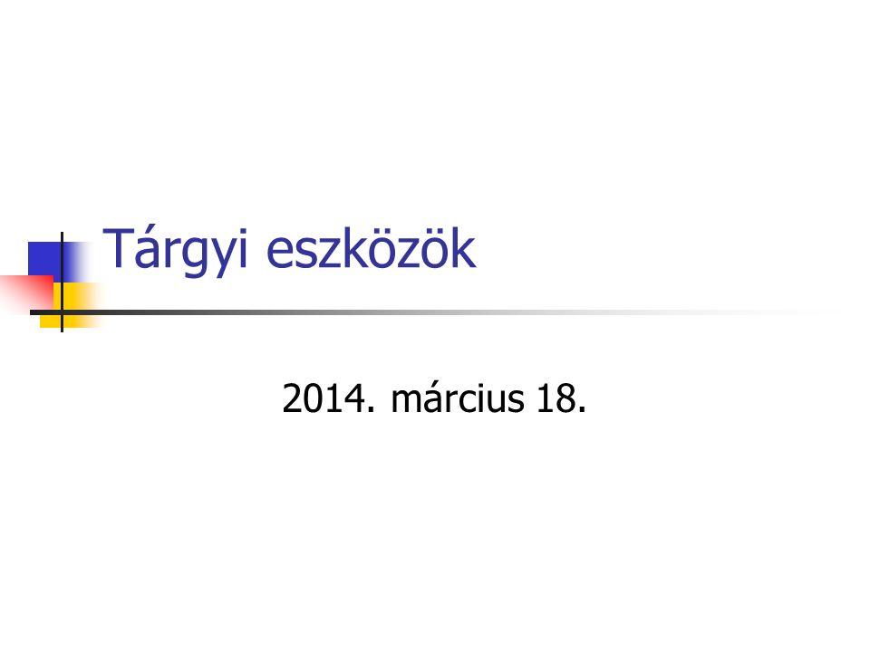 Példa értékhelyesbítésre Gyártó gépsor adatai1.év2.