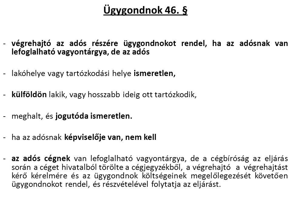 Az ingófoglalás [Vht.84. §, 86. §, 87. §, 89.