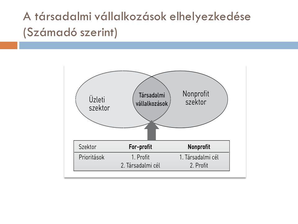 A társadalmi vállalkozások elhelyezkedése (Számadó szerint)