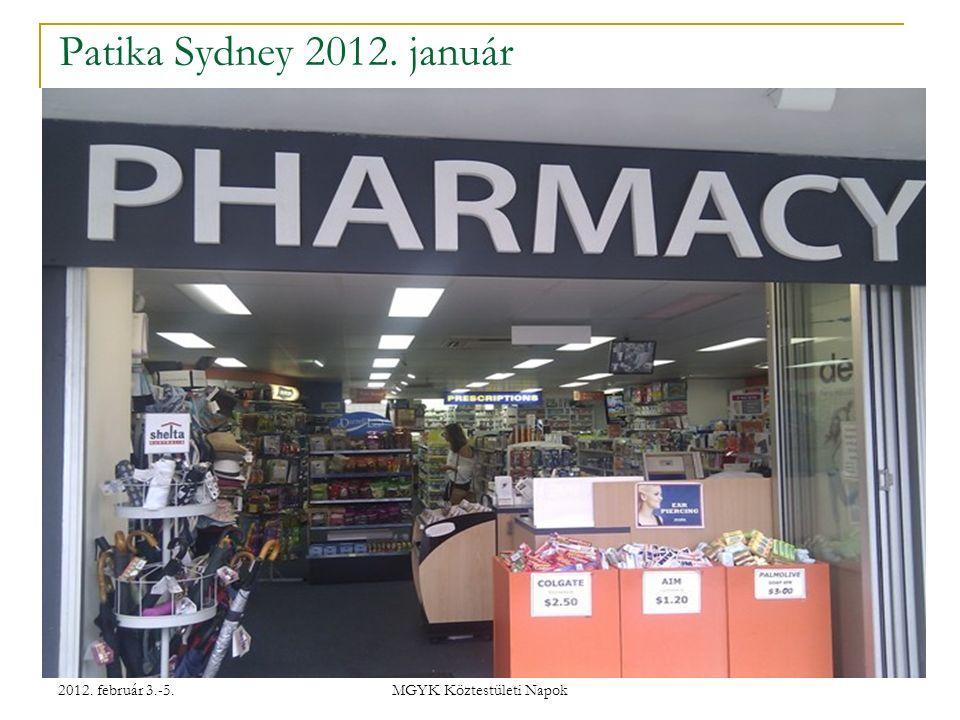 2012. február 3.-5. MGYK Köztestületi Napok Patika Sydney 2012. január