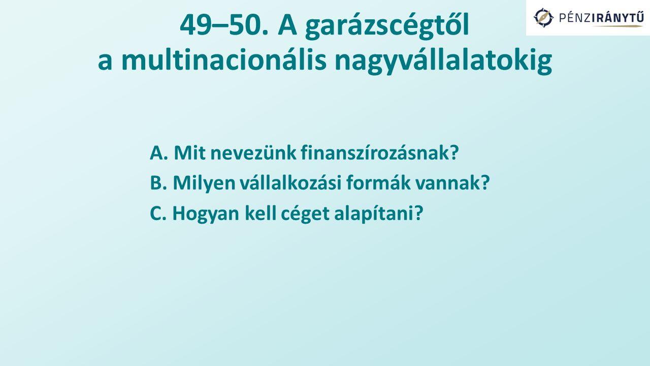 49–50.A garázscégtől a multinacionális nagyvállalatokig A.