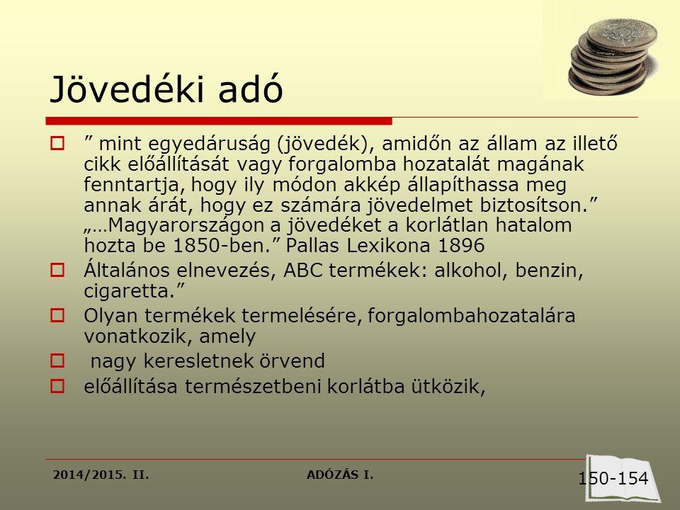 2014/2015.II.ADÓZÁS I. Végeredmény  2003.