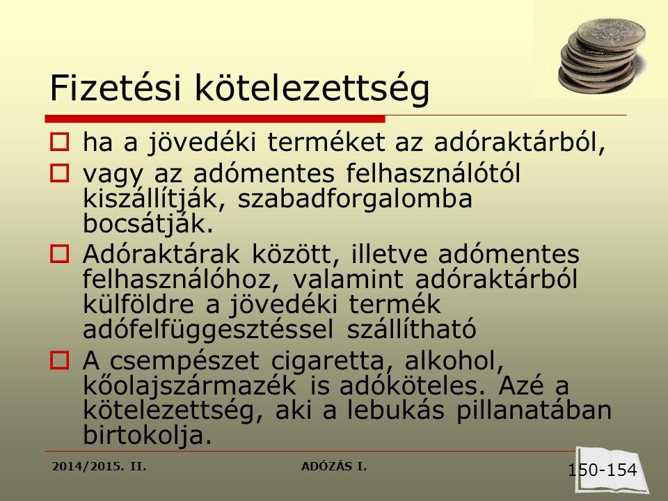 2014/2015.II.ADÓZÁS I.