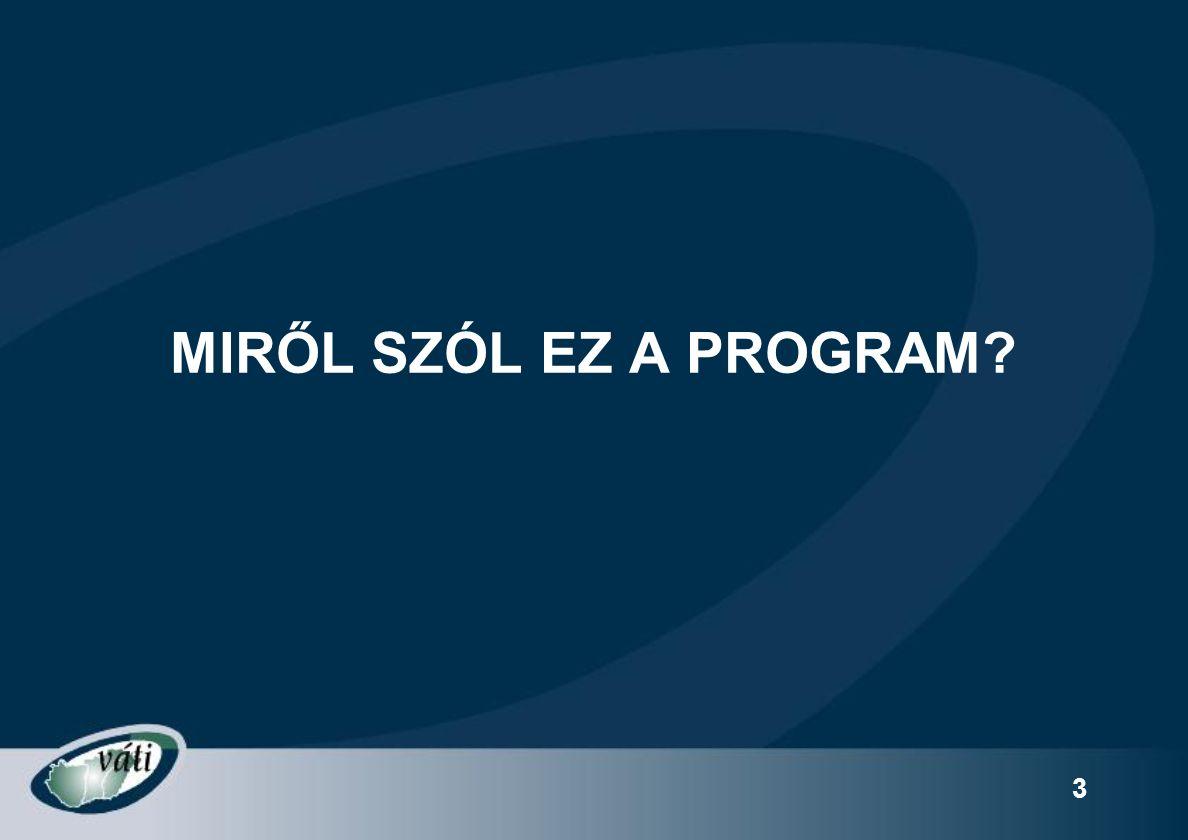4 A PROGRAM HÁTTERE A régiók gazdasági versenyképességének növeléséhez a piaci igényeknek megfelelő ismeretekkel rendelkező munkaerő szükséges.