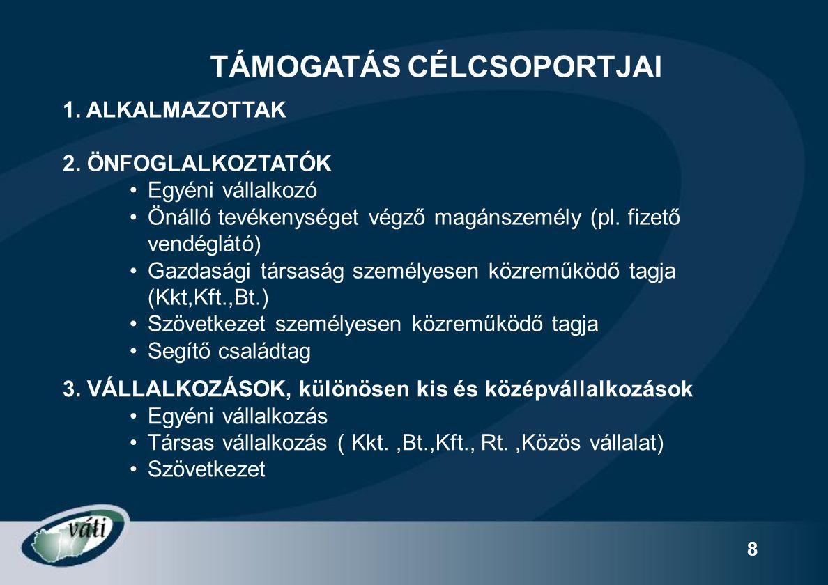 49 Váti Kht.képviseletein regisztráció és elbírálás A jelentkező AZONOSÍTÓ SZÁMOT kap.