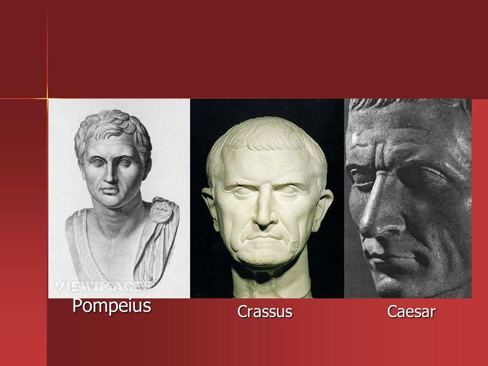 Pompeius CrassusCaesar