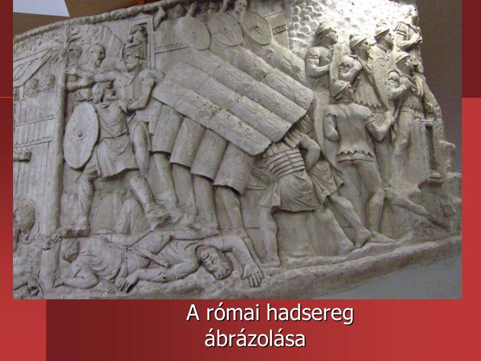 A római hadsereg ábrázolása