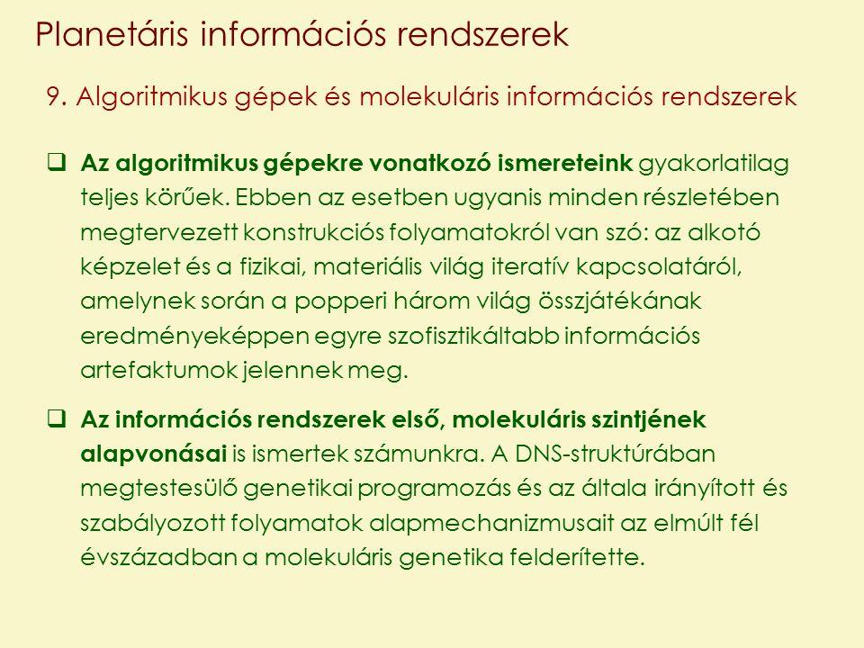 Planetáris információs rendszerek 9.