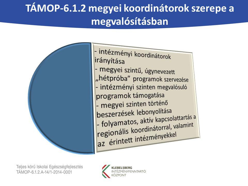 TÁMOP-6.1.2 megyei koordinátorok szerepe a megvalósításban