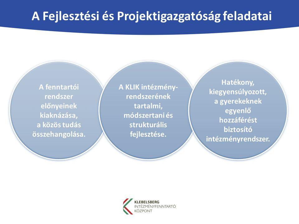 A Fejlesztési és Projektigazgatóság feladatai