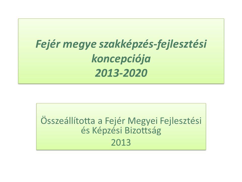 Fejér megye szakképzés-fejlesztési koncepciója 2013-2020 Összeállította a Fejér Megyei Fejlesztési és Képzési Bizottság 2013 Összeállította a Fejér Megyei Fejlesztési és Képzési Bizottság 2013
