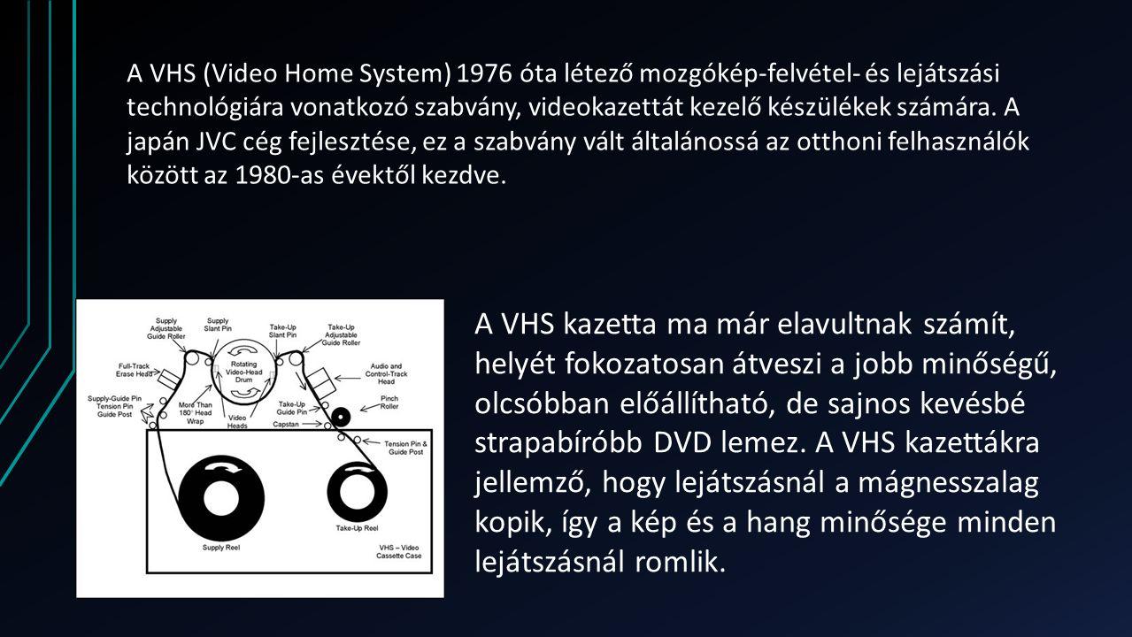 A VHS (Video Home System) 1976 óta létező mozgókép-felvétel- és lejátszási technológiára vonatkozó szabvány, videokazettát kezelő készülékek számára.