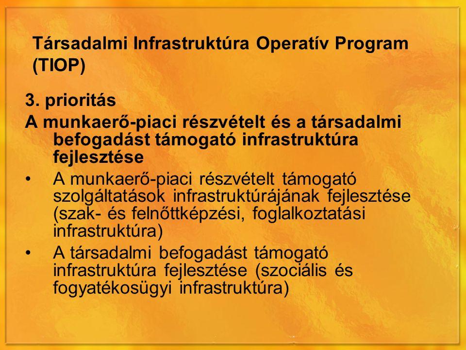 Társadalmi Infrastruktúra Operatív Program (TIOP) 3.