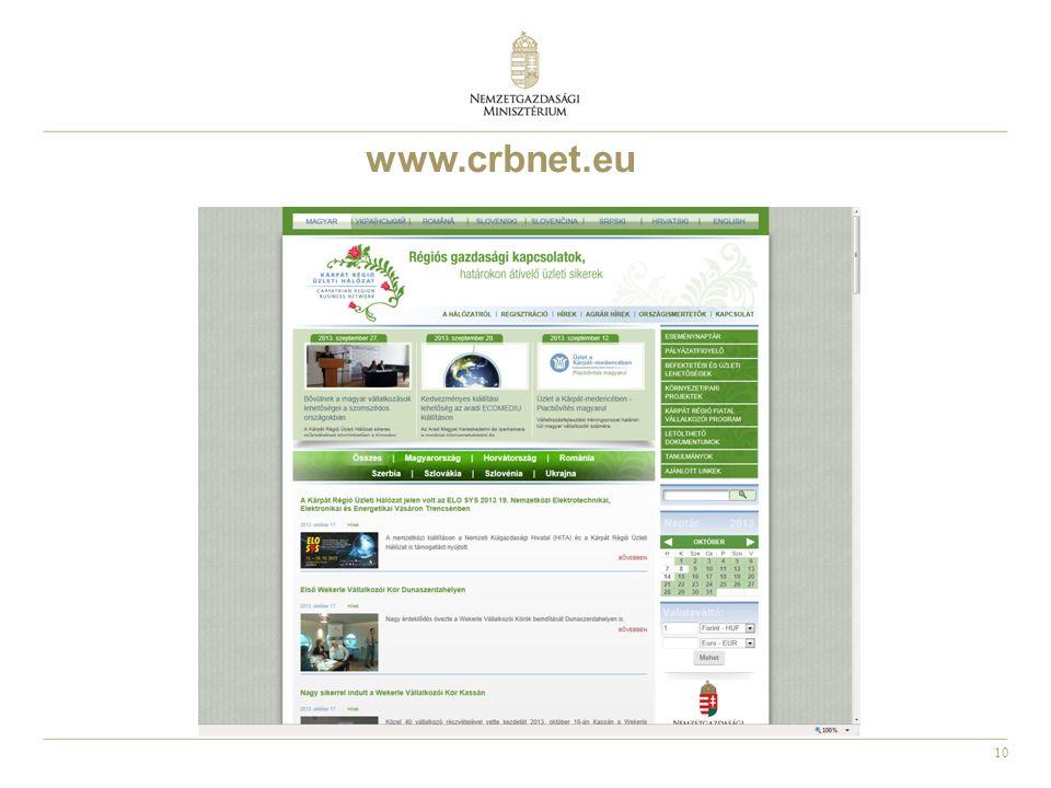 10 www.crbnet.eu
