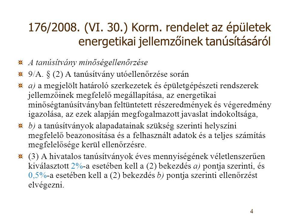 176/2008. (VI. 30.) Korm.