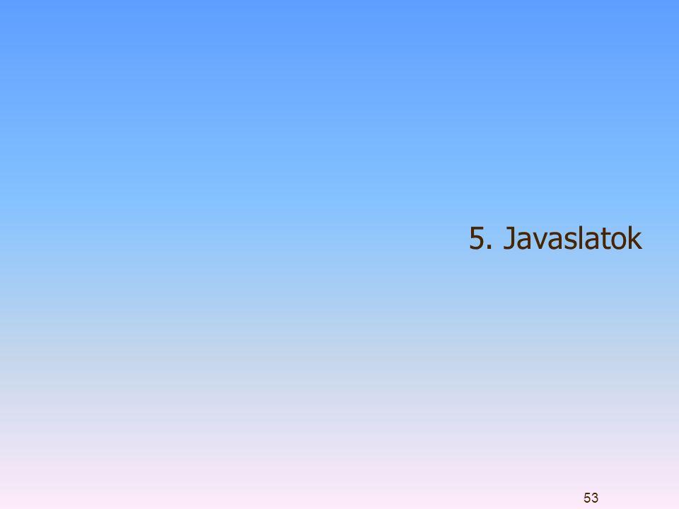 5. Javaslatok 53