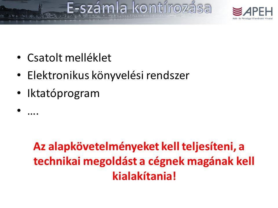Csatolt melléklet Elektronikus könyvelési rendszer Iktatóprogram ….