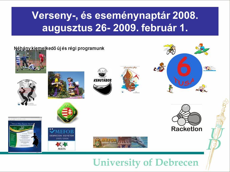 Verseny-, és eseménynaptár 2008.augusztus 26- 2009.