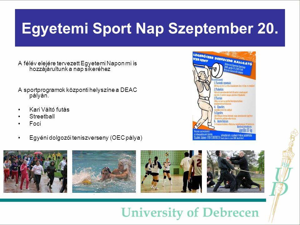 Egyetemi Sport Nap Szeptember 20.