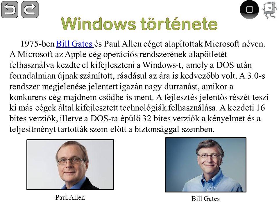1975-ben Bill Gates és Paul Allen céget alapítottak Microsoft néven.