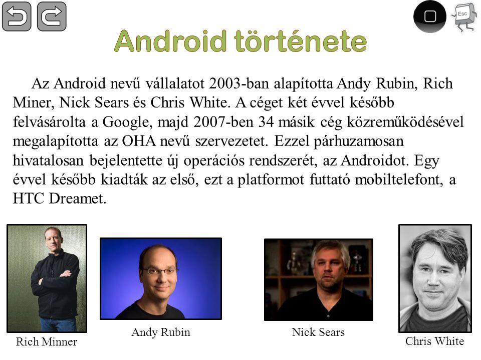 Az Android nevű vállalatot 2003-ban alapította Andy Rubin, Rich Miner, Nick Sears és Chris White.
