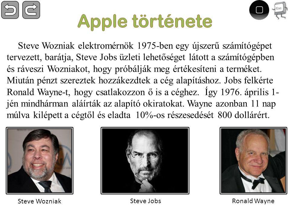 Steve Wozniak elektromérnök 1975-ben egy újszerű számítógépet tervezett, barátja, Steve Jobs üzleti lehetőséget látott a számítógépben és ráveszi Wozniakot, hogy próbálják meg értékesíteni a terméket.