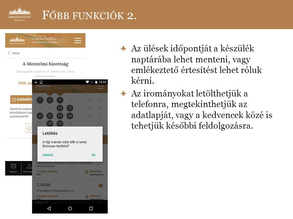 F ŐBB FUNKCIÓK 2.
