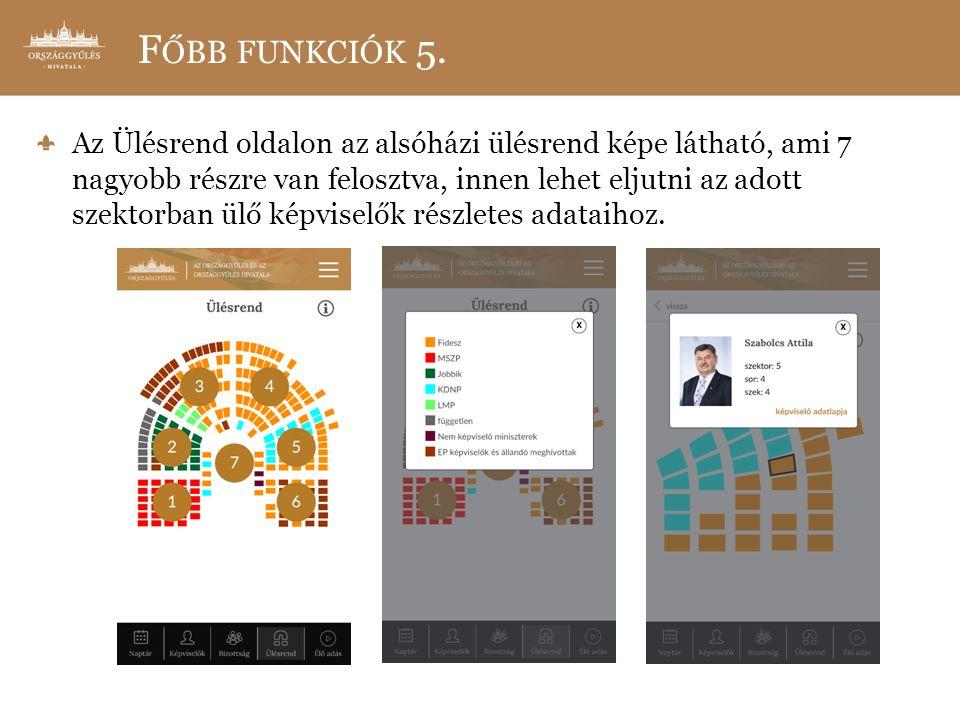 F ŐBB FUNKCIÓK 5.