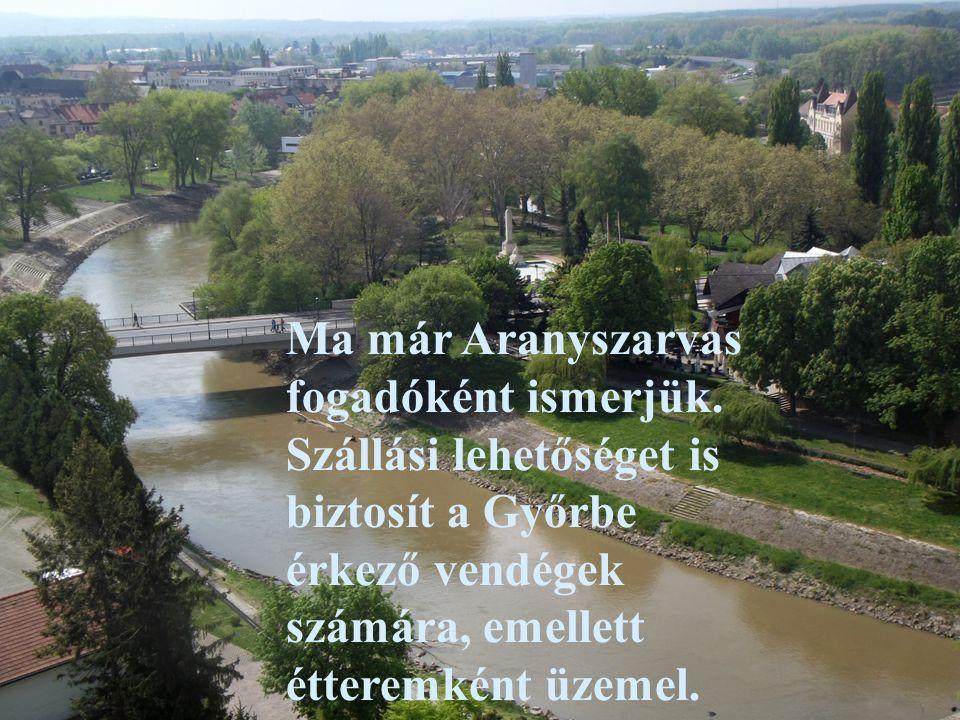 2. A győri vár a Rába Kettős Hídról  Az 1920-as években presszó lehetett.