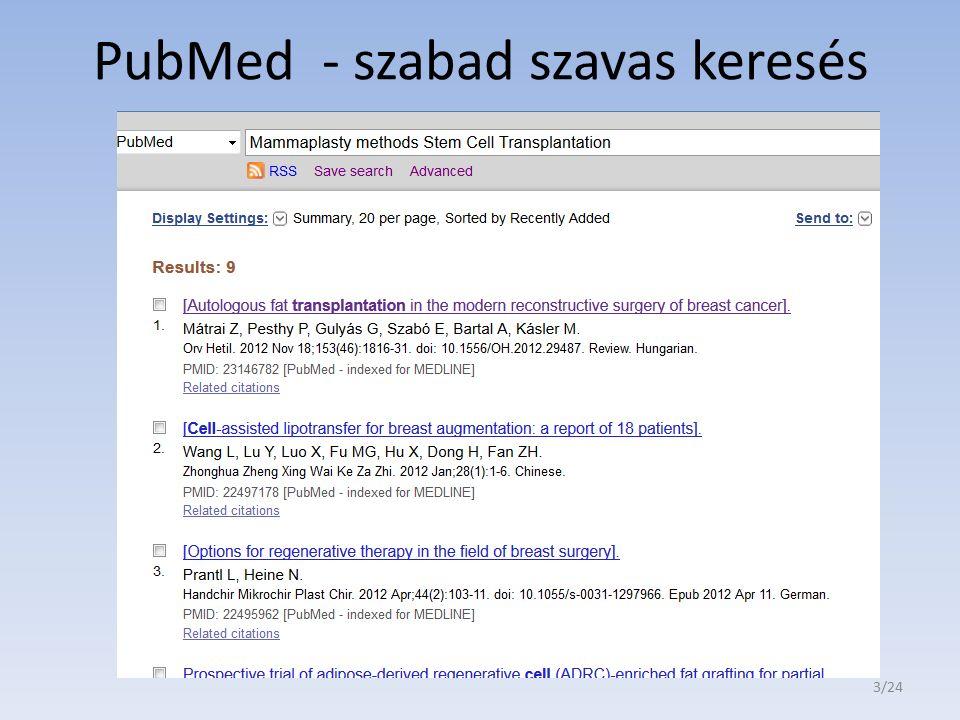 PubMed - szabad szavas keresés 3/24