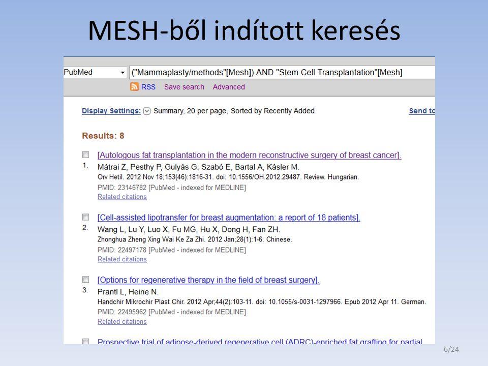 MESH-ből indított keresés 6/24