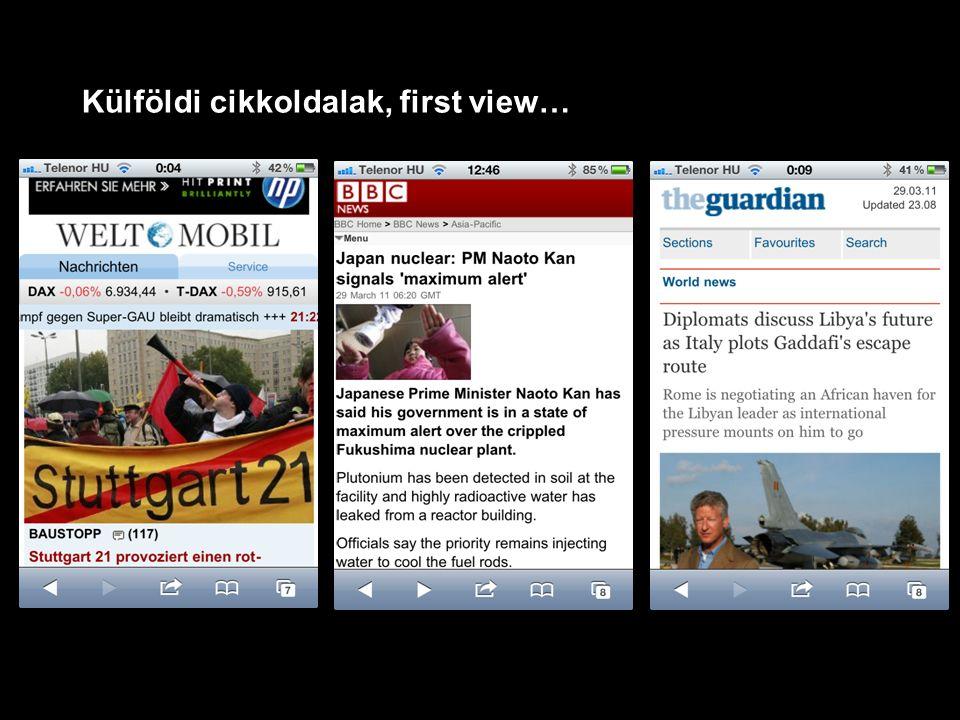 Külföldi cikkoldalak, first view…