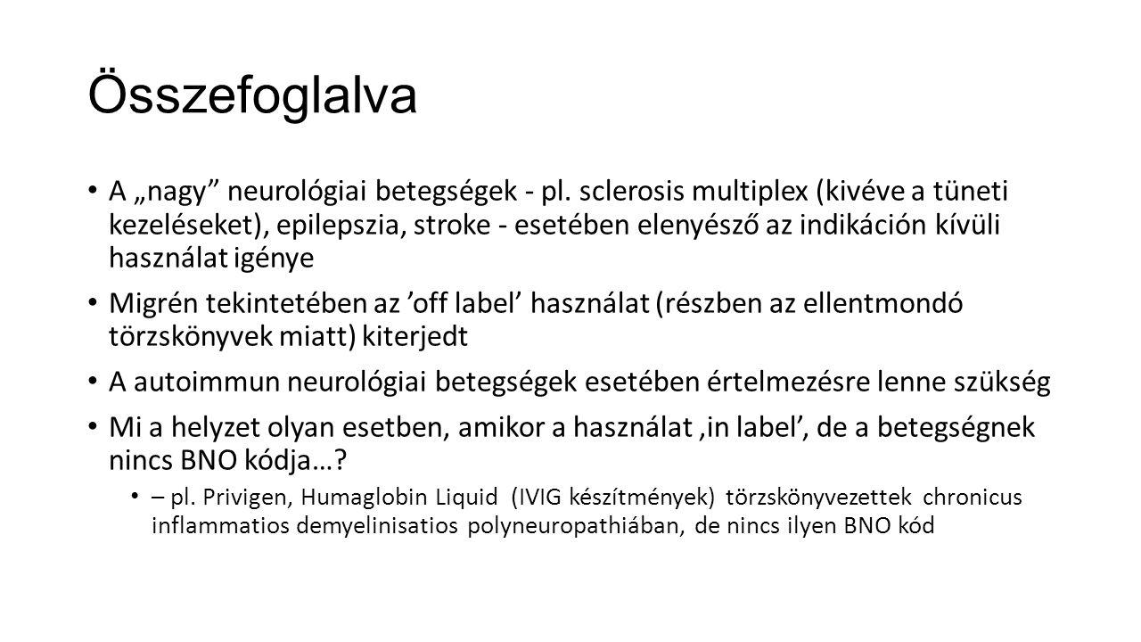 """Összefoglalva A """"nagy neurológiai betegségek - pl."""