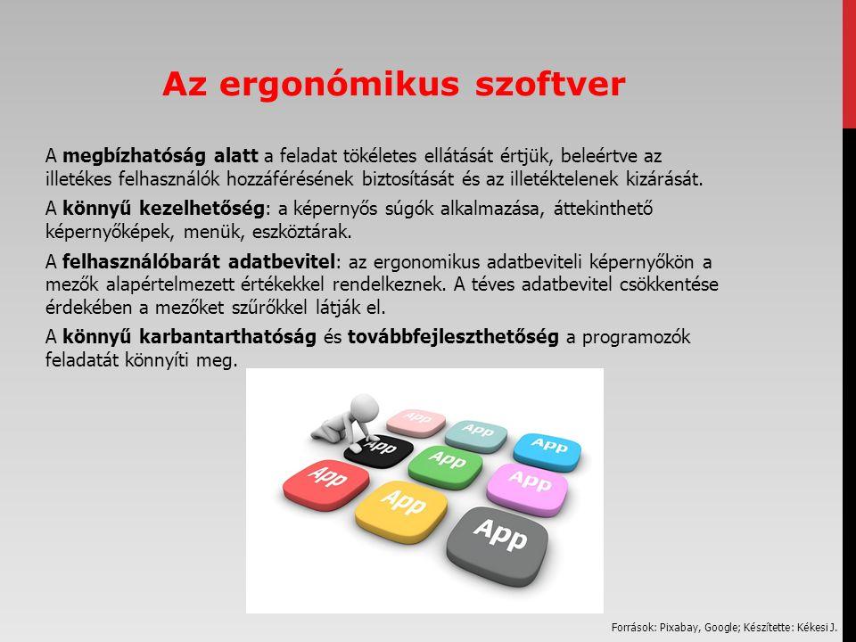 Az ergonómikus szoftver A megbízhatóság alatt a feladat tökéletes ellátását értjük, beleértve az illetékes felhasználók hozzáférésének biztosítását és