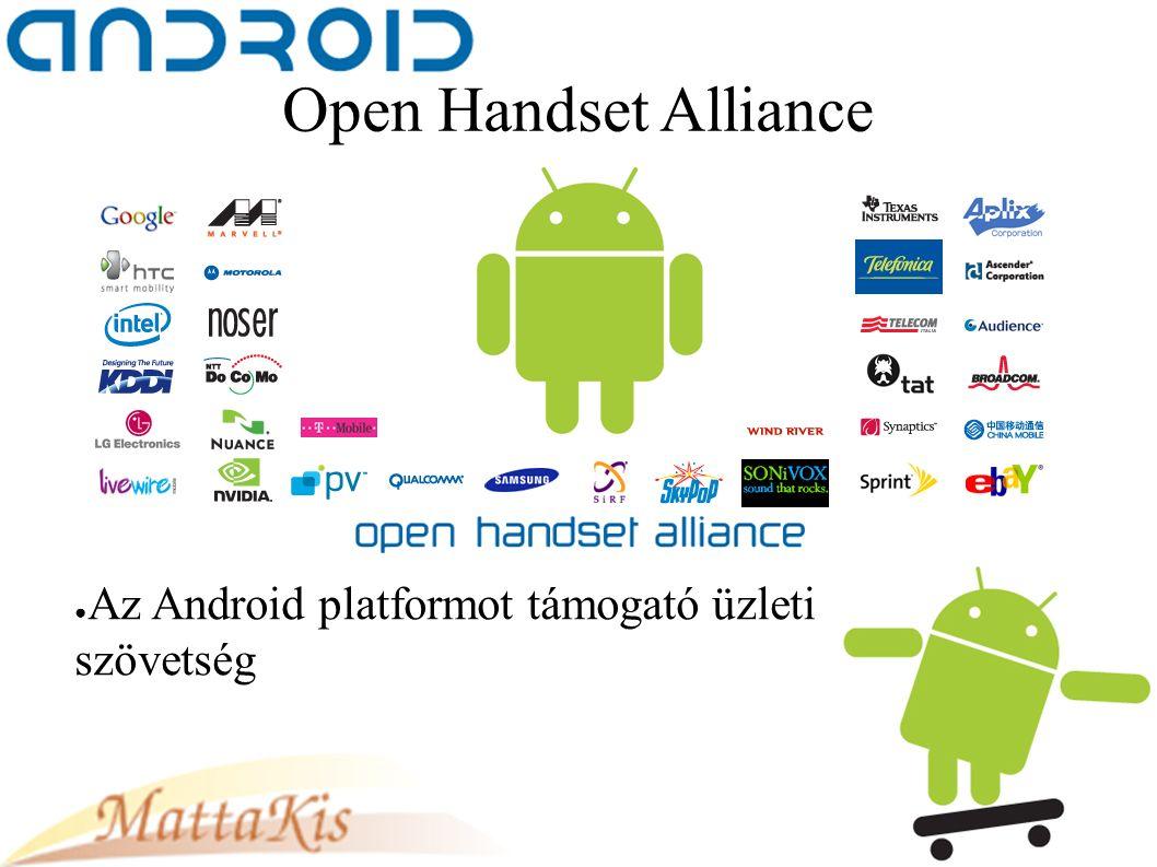 Open Handset Alliance ● Az Android platformot támogató üzleti szövetség