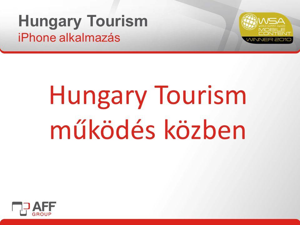 Hungary Tourism iPhone alkalmazás Hungary Tourism működés közben