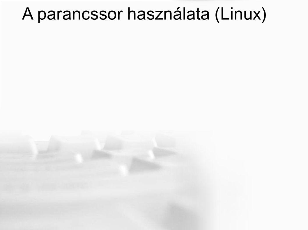 A parancssor használata (Linux)