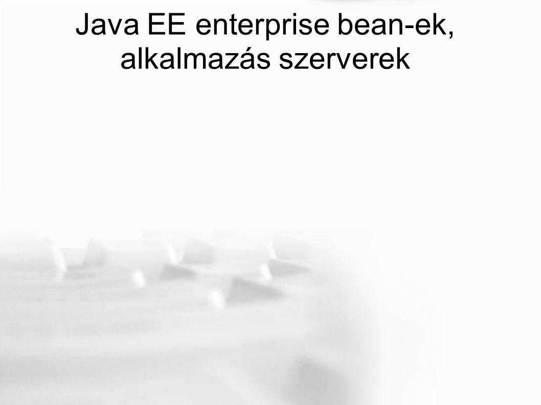 Java EE enterprise bean-ek, alkalmazás szerverek