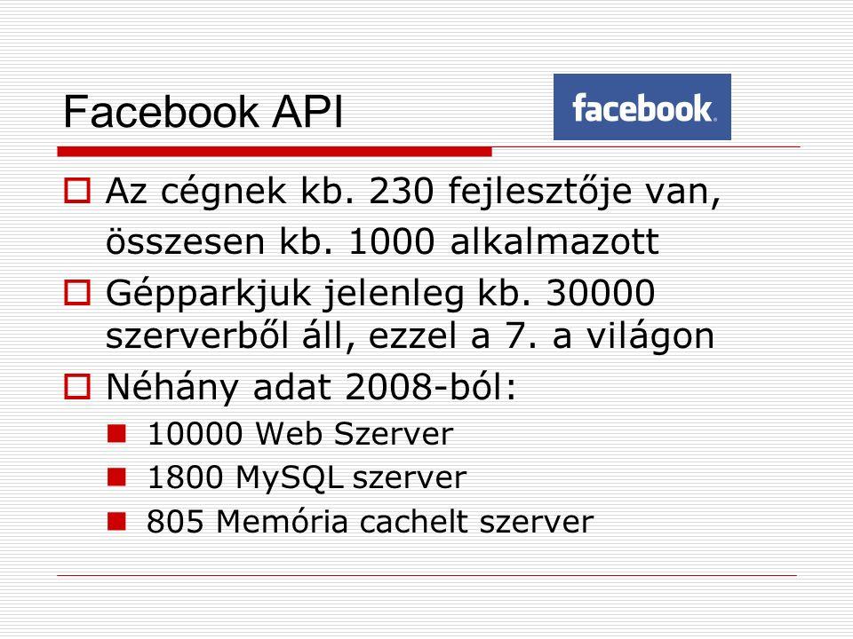  Az cégnek kb. 230 fejlesztője van, összesen kb. 1000 alkalmazott  Gépparkjuk jelenleg kb. 30000 szerverből áll, ezzel a 7. a világon  Néhány adat