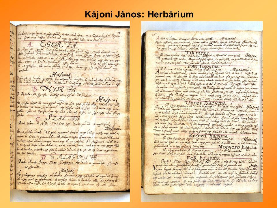 Kájoni János: Herbárium