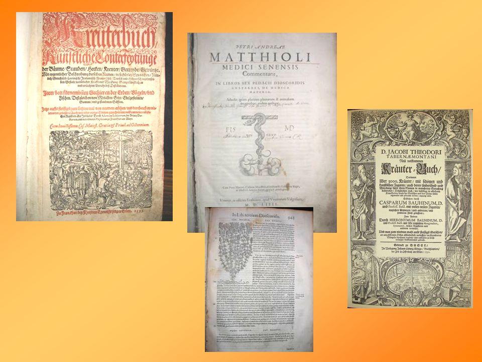 A növényrendszerezés története Híres magyar füveskönyvek: ~ 1570: Lencsés György: Ars Medica - 1.